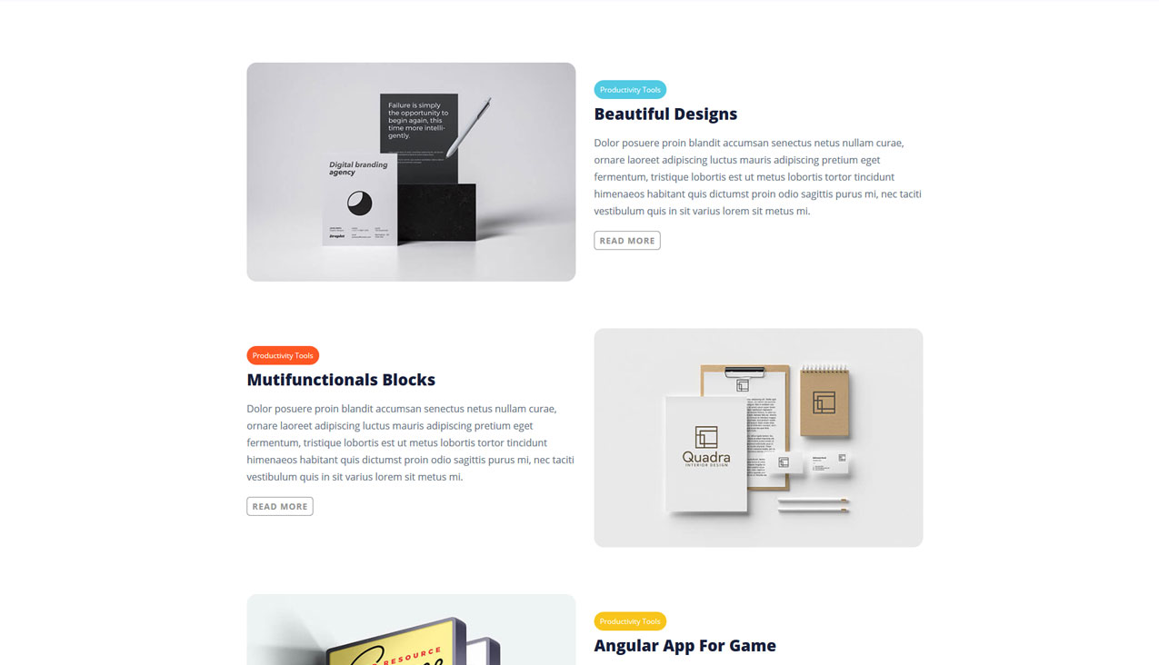 Angly - A Multipurpose Angular Site Template